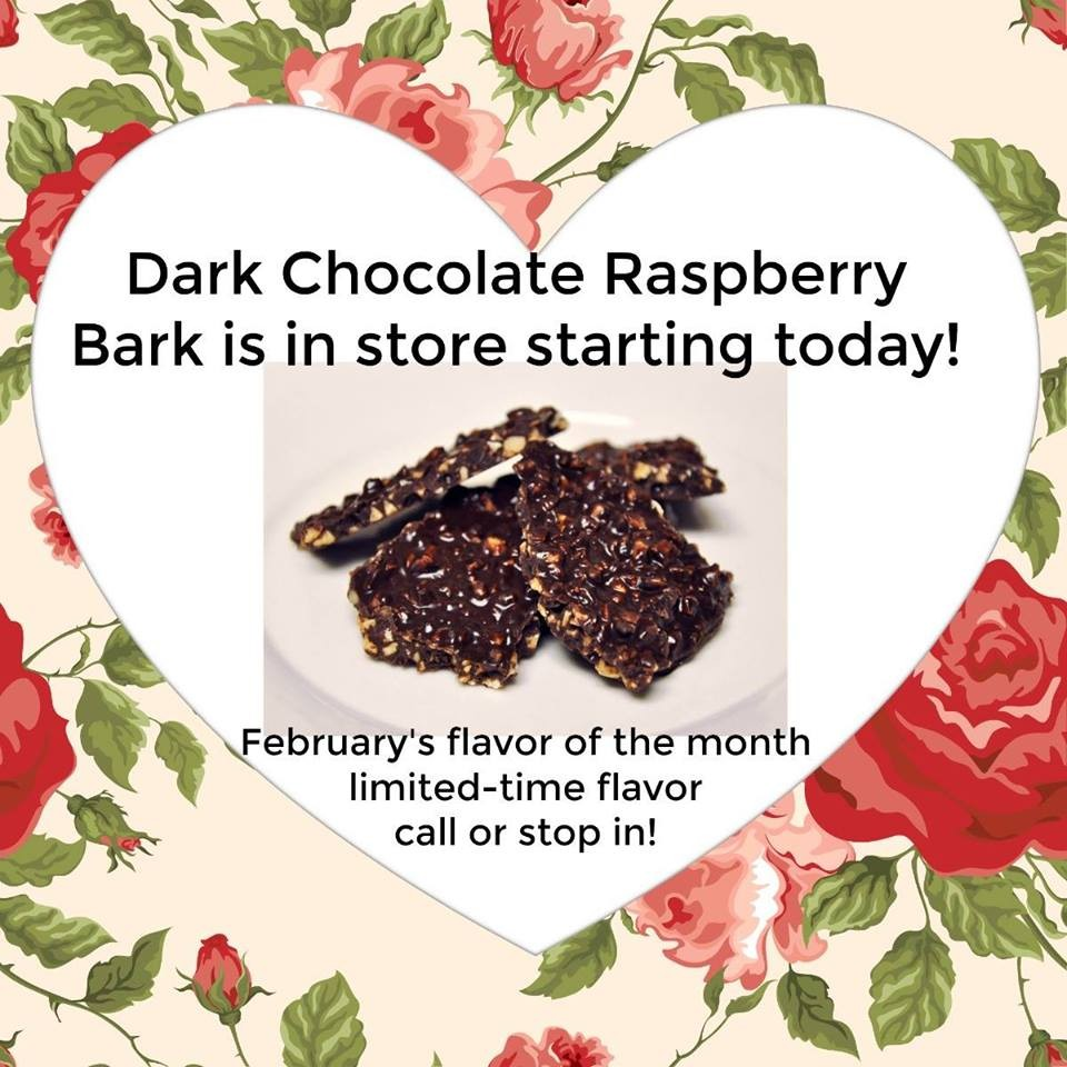 12 oz. Dark Chocolate Raspberry Peanut Bark - $7.99